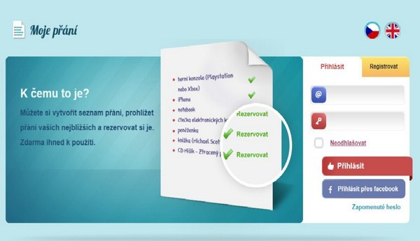 Takto vypadá Martinova aplikace, zadáte-li si do vyhledávače adresu www.mojeprani.eu Foto: mojeprani.eu