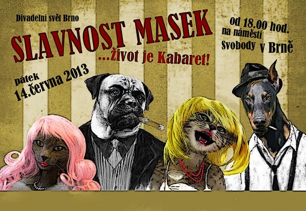 Plakát na Slavnost masek 2013 Foto: divadelnisvet.cz